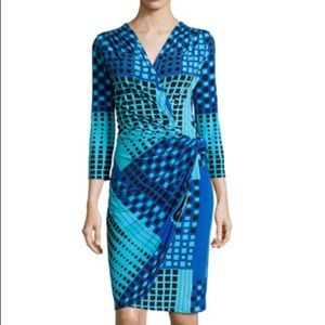 Natori faux wrap jersey dress